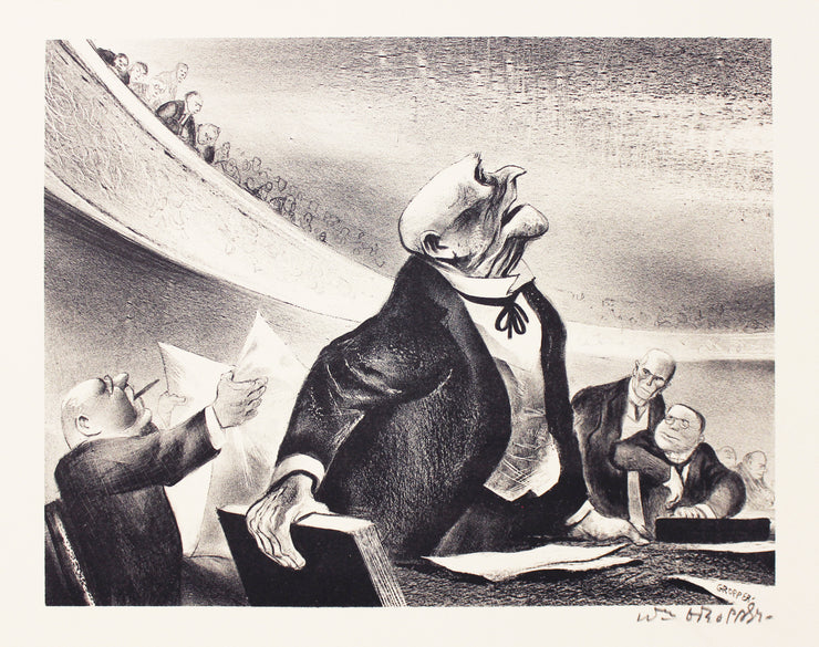 The Opposition by William Gropper - Davidson Galleries