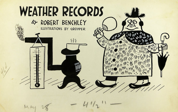 Weather Records' by Robert Benchley illustrated by Gropper by William Gropper - Davidson Galleries