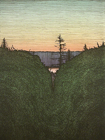 Autumn Sunset 1980 by Art Hansen - Davidson Galleries