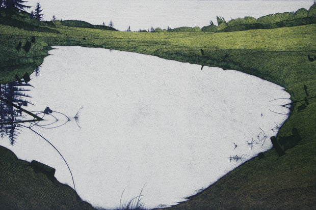 Island Pond 1985 by Art Hansen - Davidson Galleries