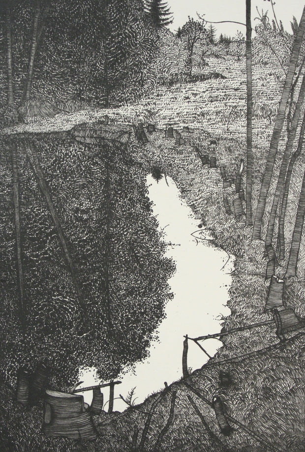 The Pond - Sept. 1980 #I by Art Hansen - Davidson Galleries