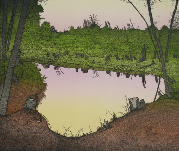 The Pond - Summer 1980 by Art Hansen - Davidson Galleries