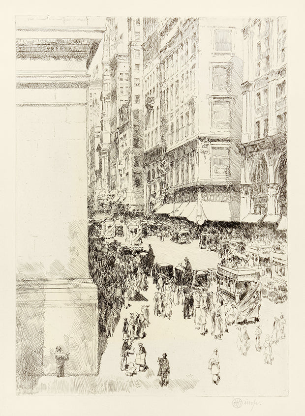 Fifth Avenue, Noon by Childe Hassam - Davidson Galleries