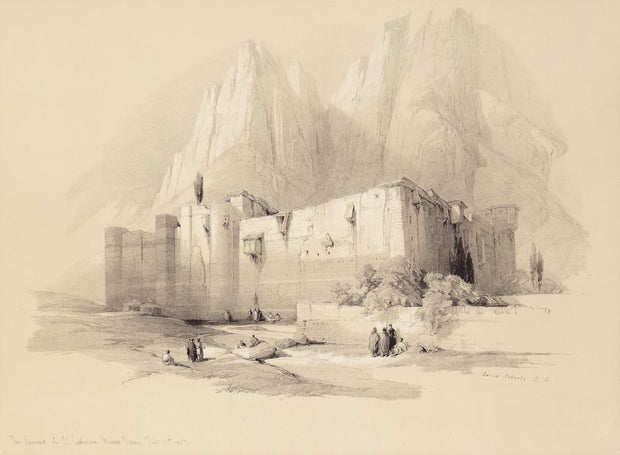 Convent of Saint Catherine, Mount Sinai by David Roberts - Davidson Galleries