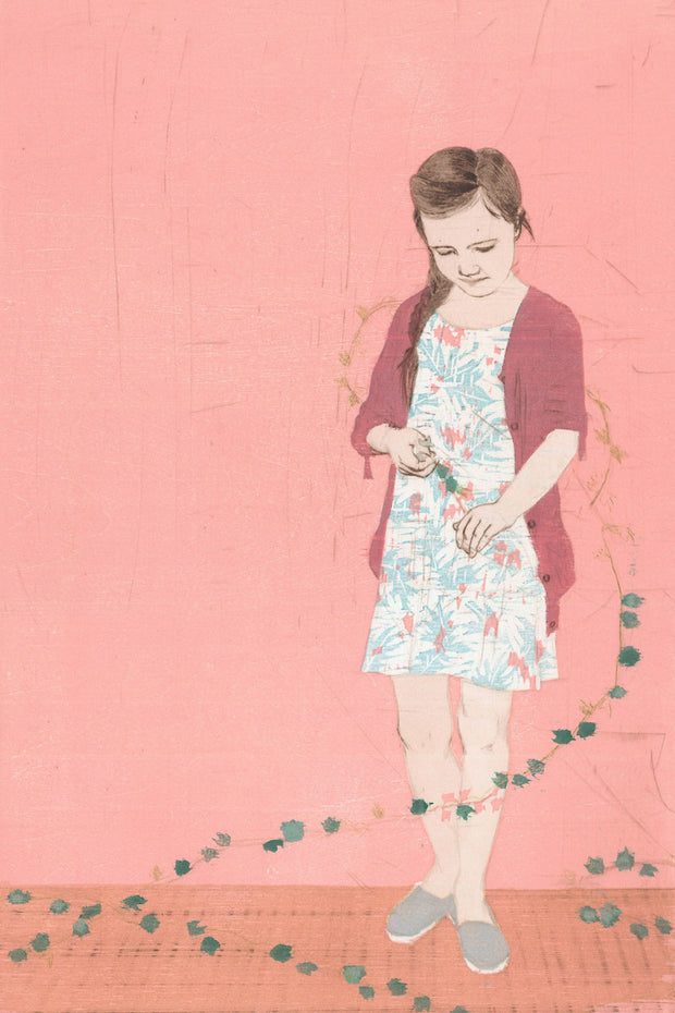 Girl and Garland I by Ellen Heck - Davidson Galleries