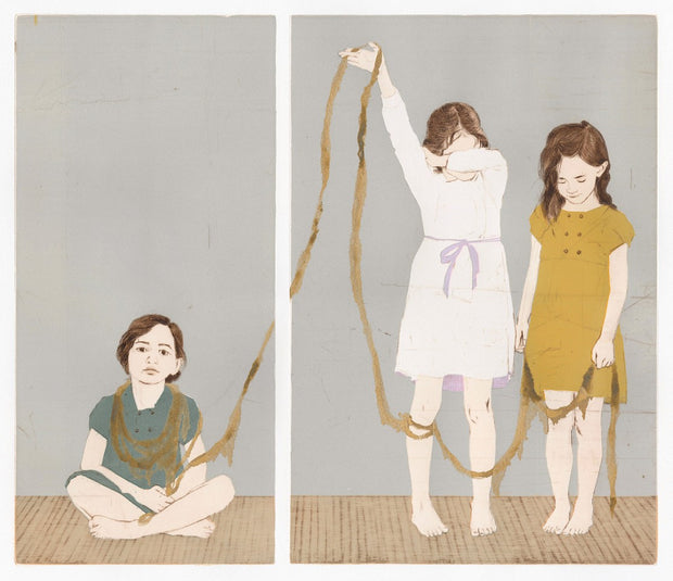 Indirectly Attached: Girls and Gold by Ellen Heck - Davidson Galleries