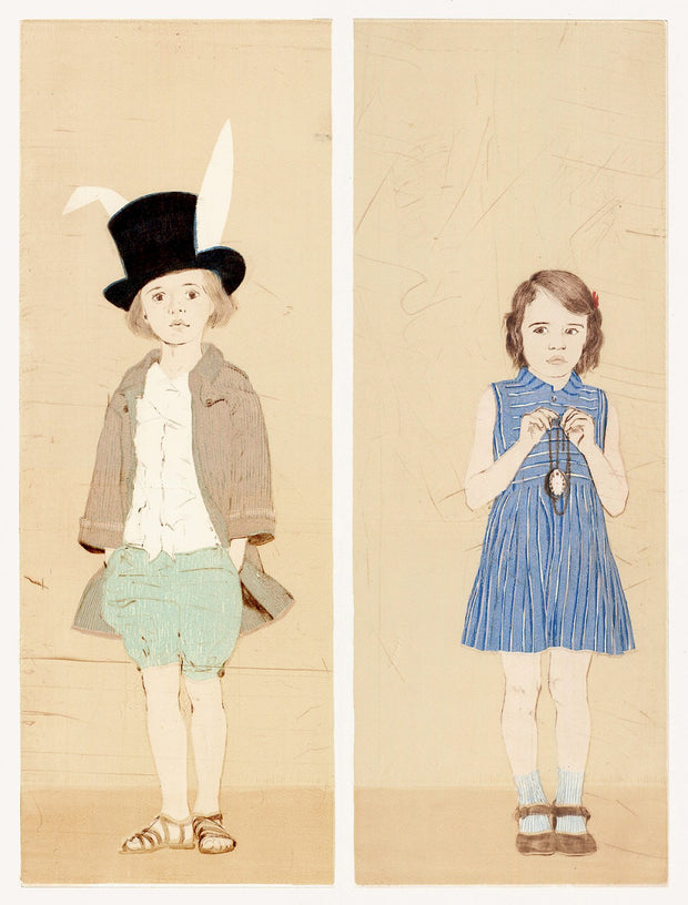 The White Rabbit and Alice by Ellen Heck - Davidson Galleries