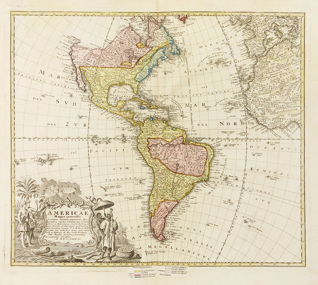 Americae Mappa Generalis by Maps, Views, and Charts - Davidson Galleries