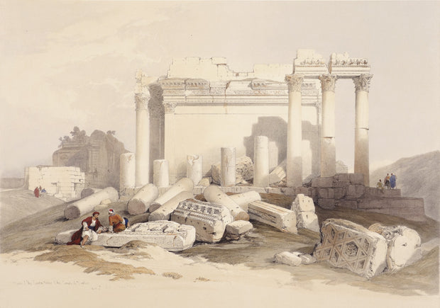Portion of the Eastern Portico, Baalbec by David Roberts - Davidson Galleries
