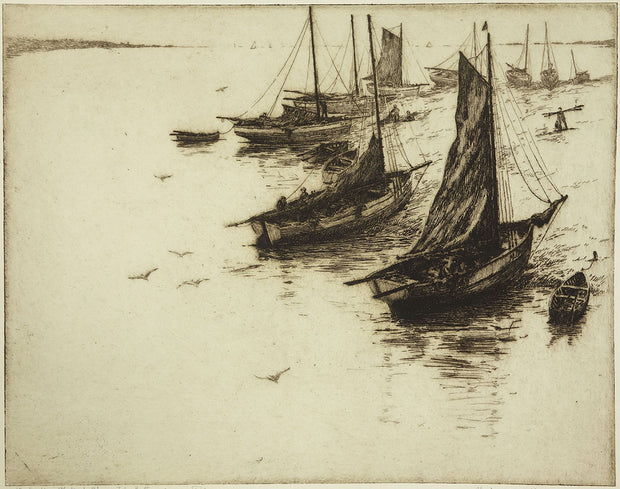 The Fishing Fleet at Plougastel, Brittany by Morris Henry Hobbs - Davidson Galleries