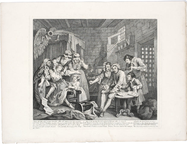Plate 7. Debtor's Prison by William Hogarth - Davidson Galleries