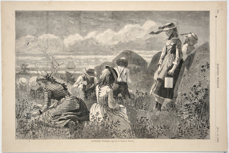 Gathering Berries by Winslow Homer - Davidson Galleries