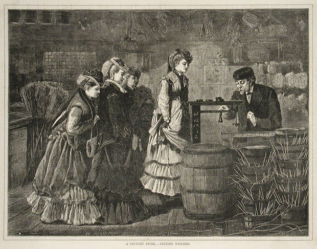 A Country Store—Getting Weighed by Winslow Homer - Davidson Galleries