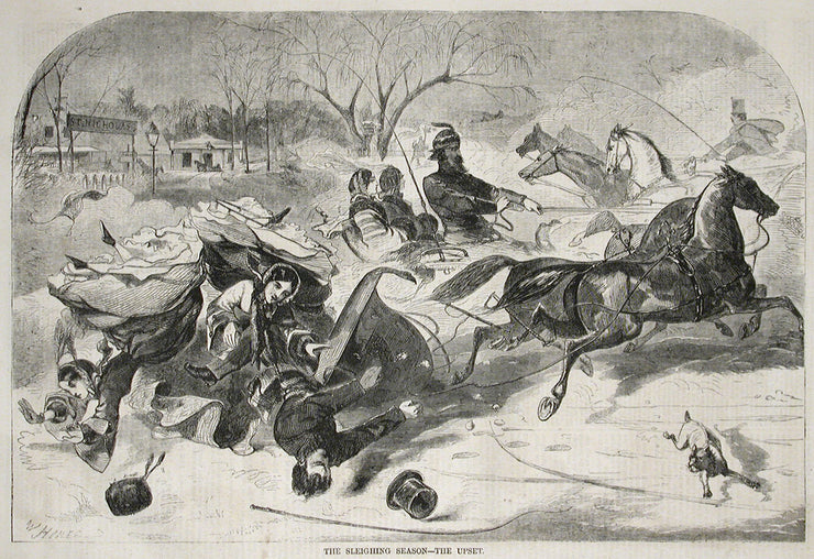 The Sleighing Season—The Upset by Winslow Homer - Davidson Galleries