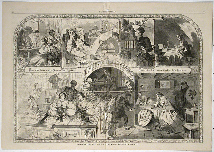 Thanksgiving Day, 1860—Two Great Classes of Society by Winslow Homer - Davidson Galleries