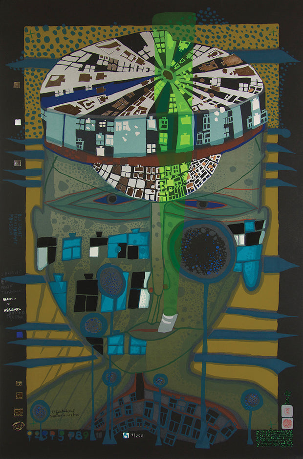 One of Five Seamen by Friedensreich Hundertwasser - Davidson Galleries