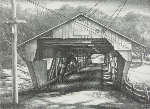 Vermont Covered Bridge by Victoria Hutson Huntley - Davidson Galleries