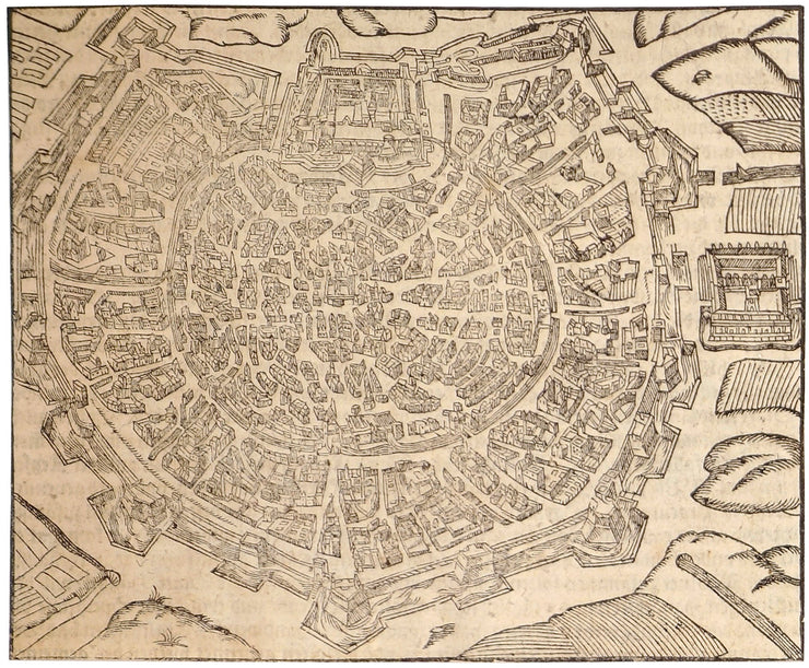 Bird's Eye View Of The Town Of Milan (Italy) by Incunabula - Davidson Galleries