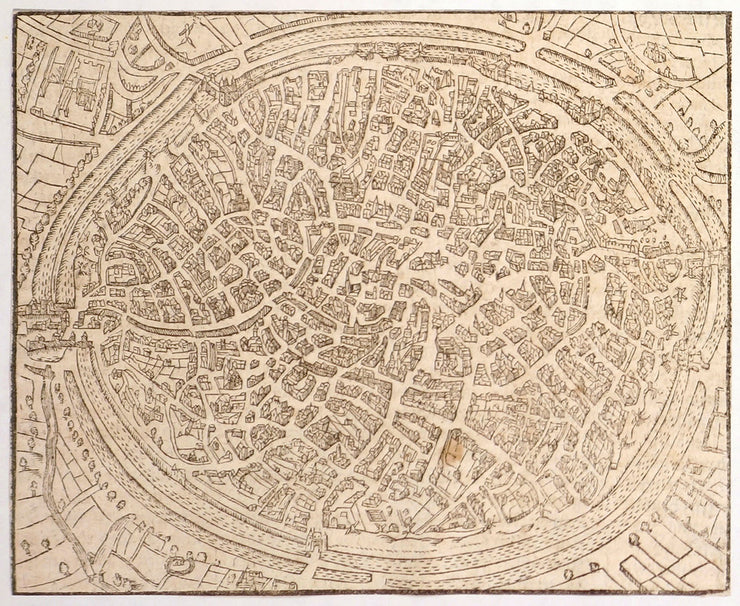 Bird's Eye View Of The Town Of Gendt (Southcentral Netherlands) by Incunabula - Davidson Galleries