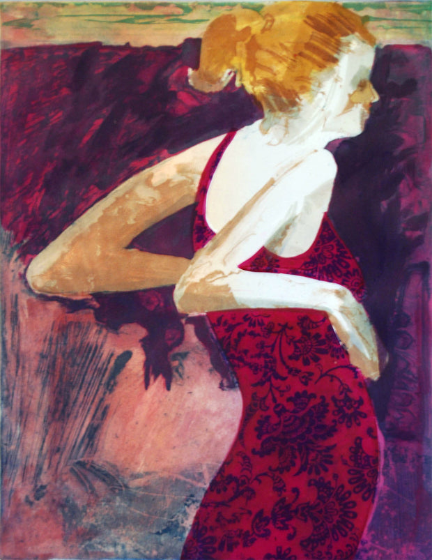 Casual Girl (Maroon) by Jonelle Johnson - Davidson Galleries