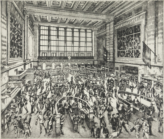 New York Stock Exchange, Interior by Andrew B. Karoly - Davidson Galleries