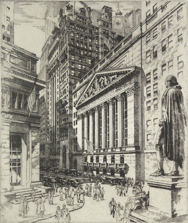 New York Stock Exchange, Exterior by Andrew B. Karoly - Davidson Galleries