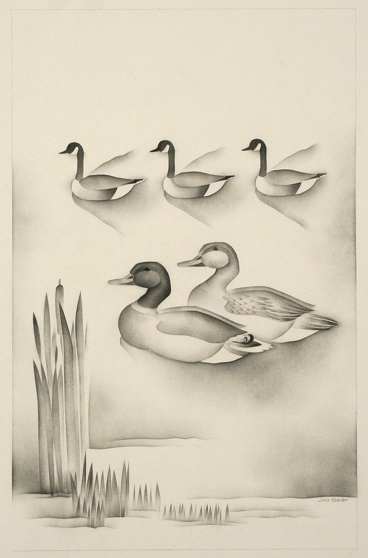 Untitled (Ducks and Geese) by Lois S. Keeler - Davidson Galleries