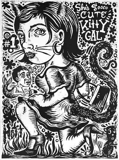 Kitty Gal (She's So Cute) by Jenny Schmid - Davidson Galleries