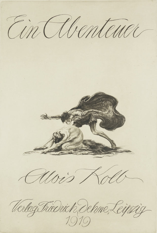 Title page for Ein Abenteuer Portfolio by Alois Kolb - Davidson Galleries