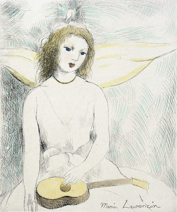 Jeune Fille à la Guitar by Marie Laurencin - Davidson Galleries