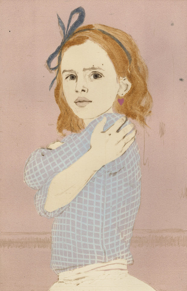 Girl with a Heart-Shaped Earring by Ellen Heck - Davidson Galleries