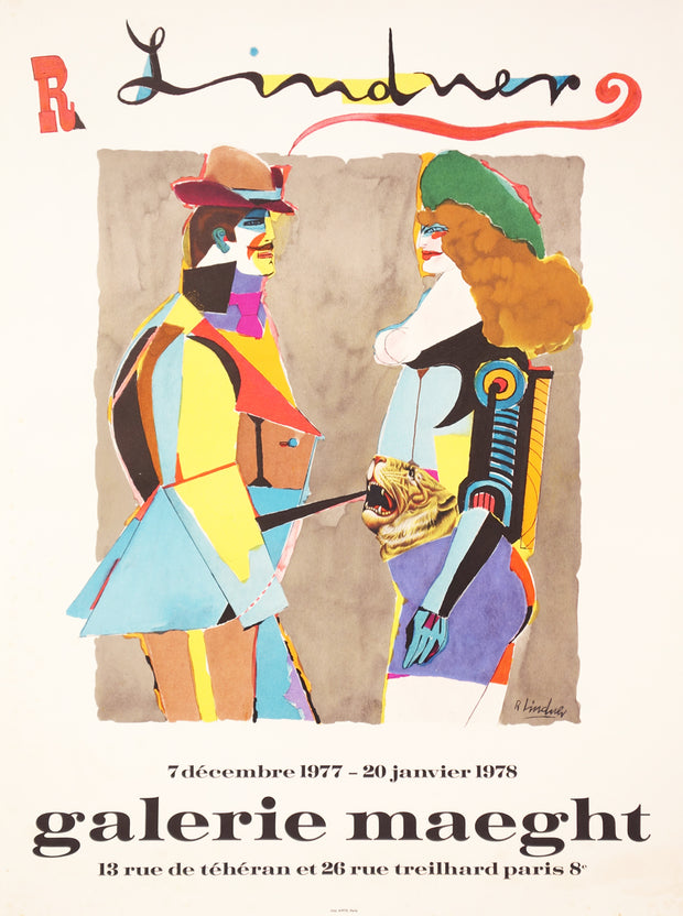 Untitled Exhibition Poster by Richard Lindner - Davidson Galleries