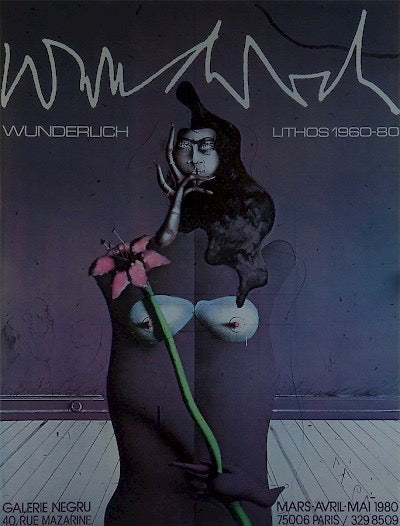 "Poster for Galerie Negru ""Lithos 1960-80"" by Paul Wunderlich - Davidson Galleries"