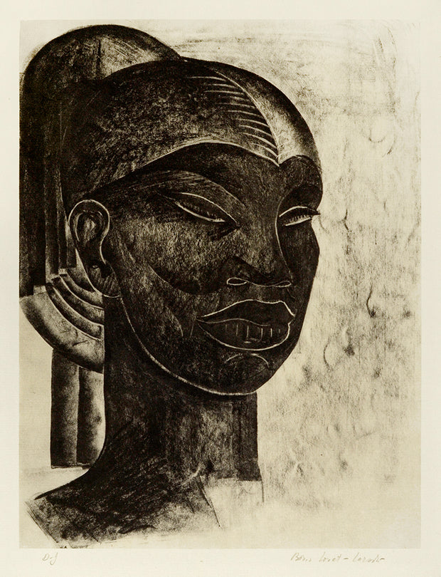 Abyssinian Head (Frontal View) by Boris Lovet-Lorski - Davidson Galleries