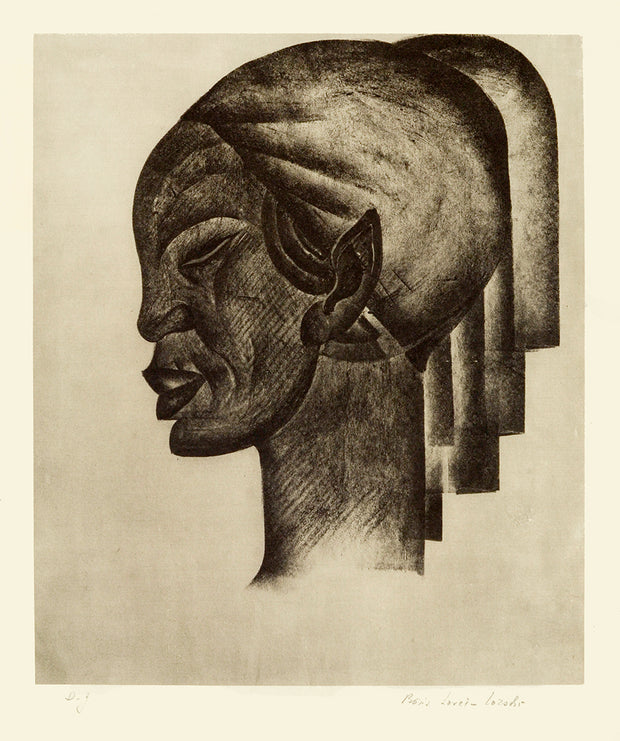 Abyssinian Head (Profile) by Boris Lovet-Lorski - Davidson Galleries