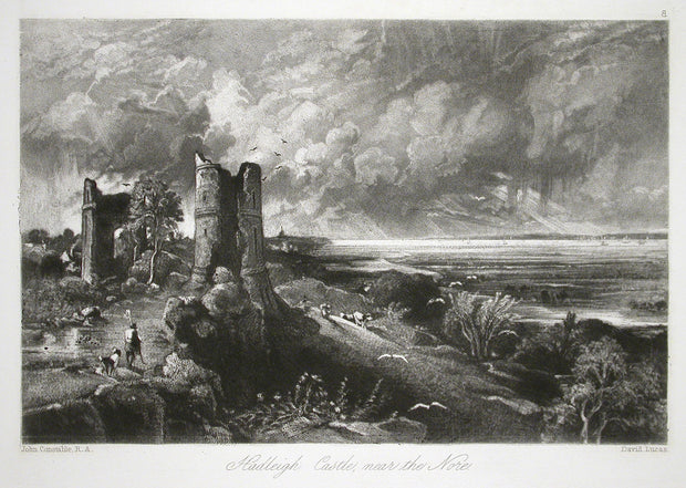 Hadleigh Castle, Near the Nore by David Lucas - Davidson Galleries