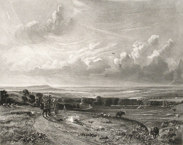Hampstead Heath, Harrow in the Distance by David Lucas - Davidson Galleries