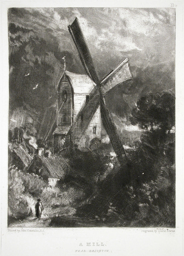 A Mill Near Brighton by David Lucas - Davidson Galleries