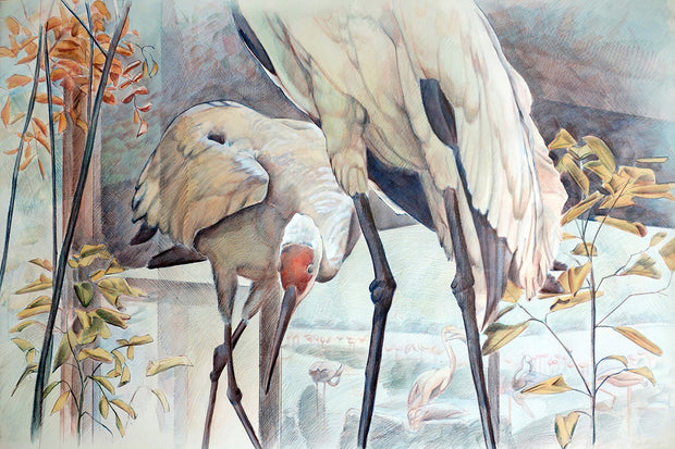 Untitled (Cranes) by Peggy MacNamara - Davidson Galleries