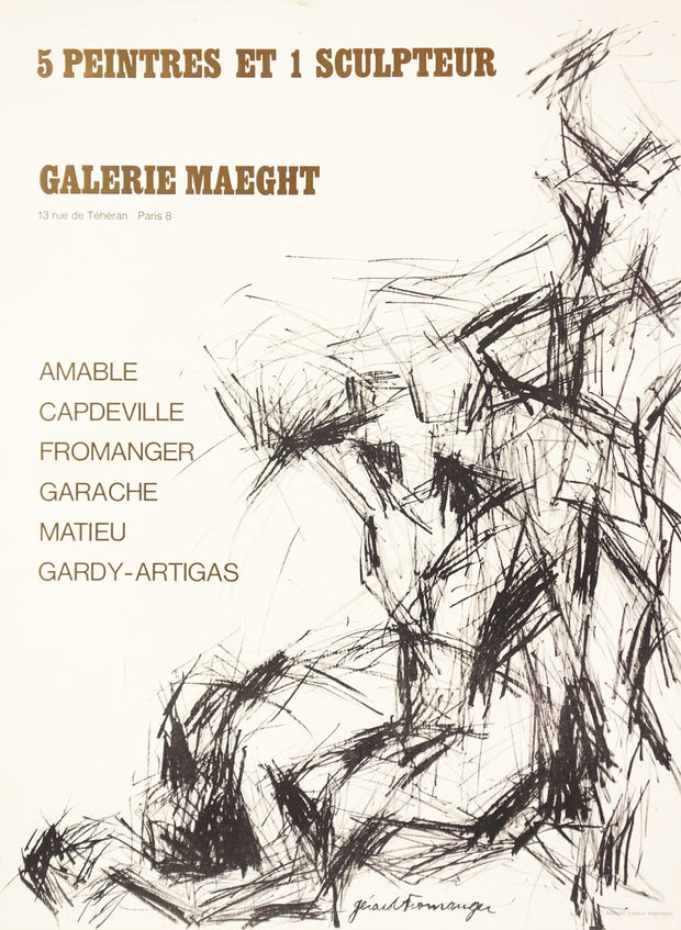 5 Peintres et 1 Sculpteur / Group Exhibition Poster by Galerie Maeght - Davidson Galleries