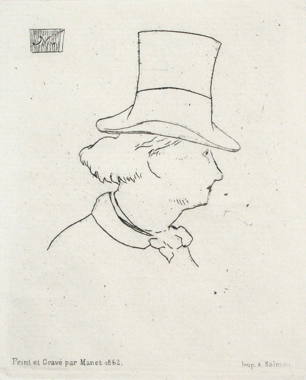 Baudelaire En Profil En Chapeau II (Charles Baudelaire in Profile Wearing a Hat by Edouard Manet - Davidson Galleries