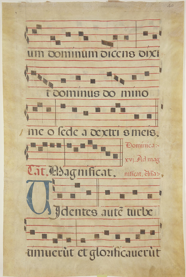 Spanish Antiphonal Leaf by Manuscripts & Miniatures - Davidson Galleries
