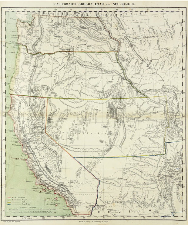 Californien, Oregon, Utah and Neu-Mejico by Maps, Views, and Charts - Davidson Galleries