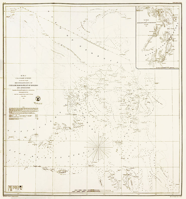 Reconnaissance of Canal de Haro & Strait of Rosanio by Maps, Views, and Charts - Davidson Galleries