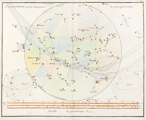 Celestial Map: Planisphere et figures by Maps, Views, and Charts - Davidson Galleries
