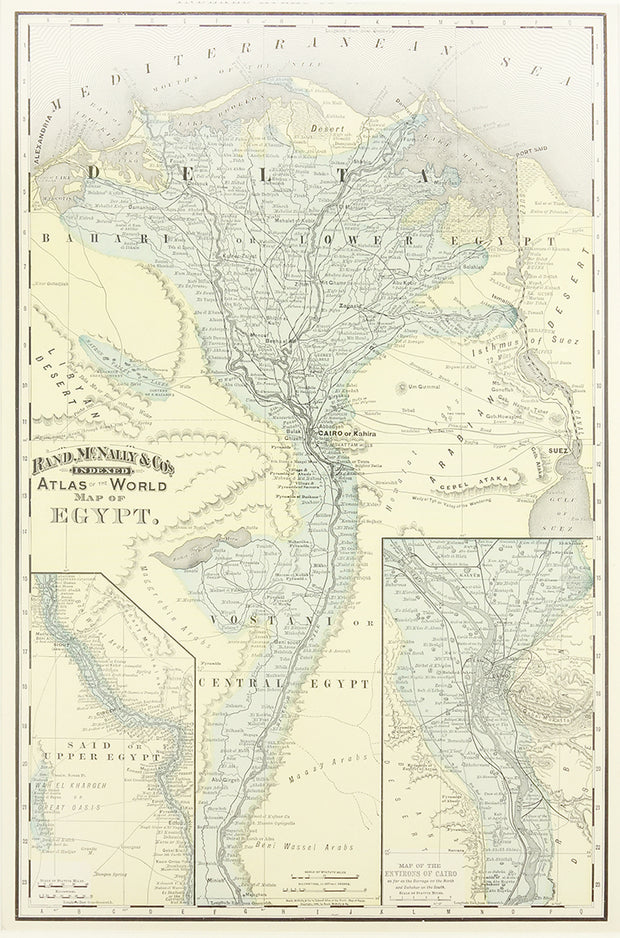 Map of Egypt by Maps, Views, and Charts - Davidson Galleries