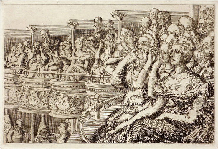 Grand Tier at the Met by Reginald Marsh - Davidson Galleries