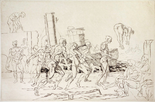Bathers in the Hudson by Reginald Marsh - Davidson Galleries