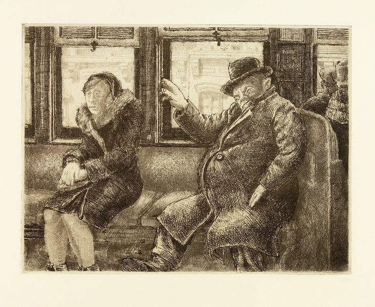 2nd Avenue El by Reginald Marsh - Davidson Galleries