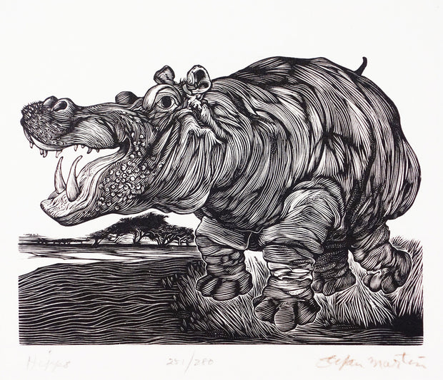 Hippo by Stefan Martin - Davidson Galleries
